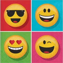 16 Tovaglioli Carta Emoji 33x33 cm