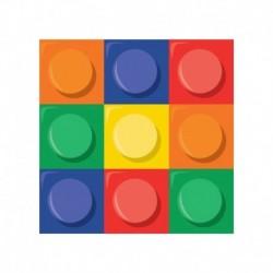 16 Tovaglioli Carta Lego Block 25x25 cm