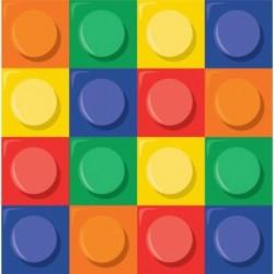 16 Tovaglioli Carta Lego Block 33x33 cm