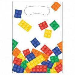 8 Loot Bag Lego Block 23x16 cm