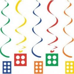 Set 5 Pendenti Lego Block 100 cm