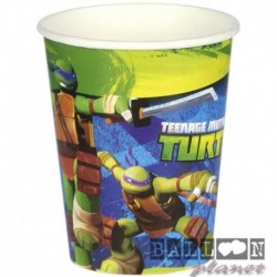 8 Bicchieri Plastica Tartarughe 200 ml