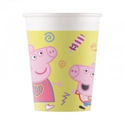 8 Bicchieri Carta Peppa Pig 266 ml