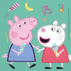 20 Tovaglioli Carta Peppa Pig 33x33 cm