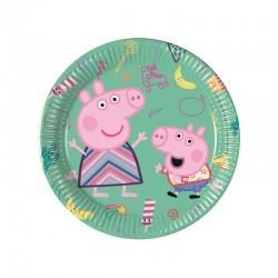 8 Piatti Tondi Carta Peppa Pig 20 cm