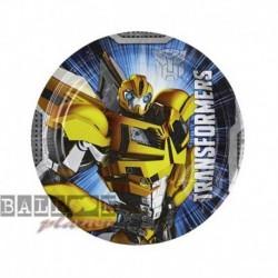 8 Piatti Tondi Carta Transformers 18 cm