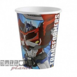 8 Bicchieri Carta Transformers 266 ml