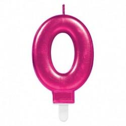 Candela Numero 0 Fucsia 8 cm