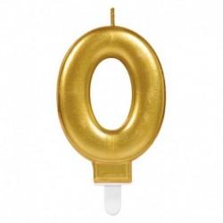 Candela Numero 0 Oro 8 cm