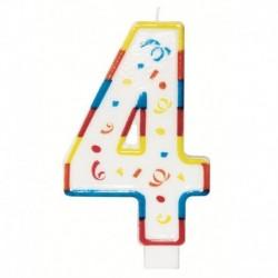 Candela Numero 4 Big 13 cm