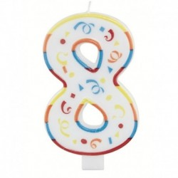 Candela Numero 8 Big 13 cm