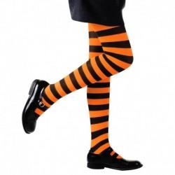 Collant Righe Arancione Nere