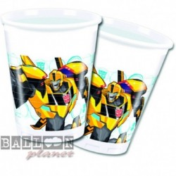 8 Bicchieri Plastica Transformers 200 ml