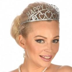 Corona Tiara Metallo Happy Birthday