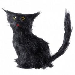Gatto Peluche Nero 12 cm