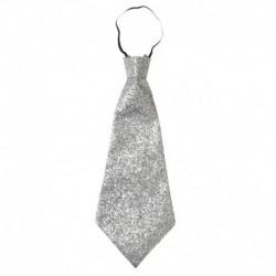 Cravatta Lurex Argento