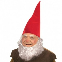 Cappello Gnomo Tessuto Rosso
