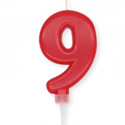 Candela Plump Rossa Numero 9