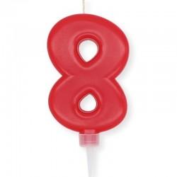 Candela Plump Rossa Numero 8