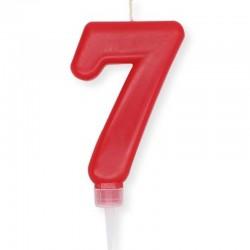 Candela Plump rossa Numero 7