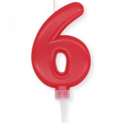Candela Plump rossa Numero 6