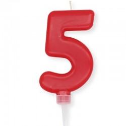 Candela Plump Rossa Numero 5