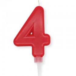 Candela Plump Rossa Numero 4