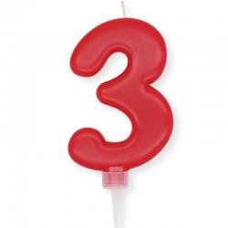 Candela Plump rossa Numero 3