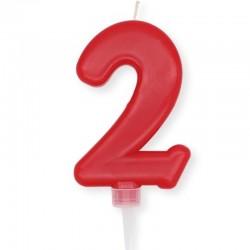 Candela Plump Rossa Numero 2