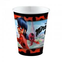 8 Bicchieri Plastica Miraculous 200 ml