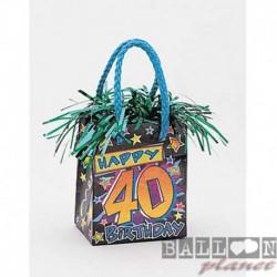 Pesetto Bag 40 Happy Birthday 14x7 cm