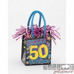 Pesetto Bag 50 Happy Birthday 14x7 cm