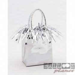 Pesetto Bag Argento 14x7 cm