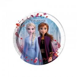 8 Piatti Tondi Carta Frozen 20 cm