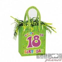 Pesetto Bag 18 Happy Birthday 14x7 cm