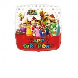Pallone Supermario Happy Bday 42 cm