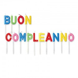 Set Candele Buon Compleanno