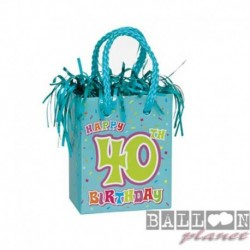 Pesetto Bag 40 TH Happy Birthday 14x7