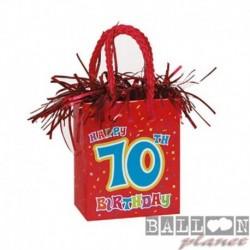 Pesetto Bag 10 Happy Birthday 14x7 cm