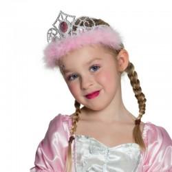 Corona Principessa Marabou Bianco