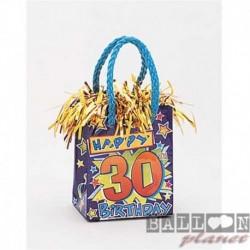 Pesetto Bag 30 Happy Birthday 14x7 cm