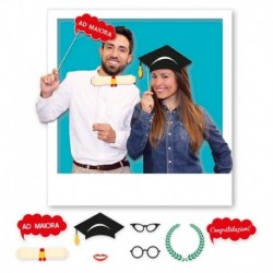 8 Photo Booth Laurea 20 cm