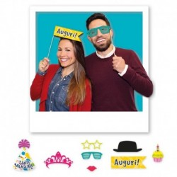 8 Photo Booth Compleanno 20 cm