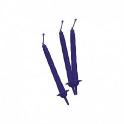 12 Candeline Blu Scuro 7 cm