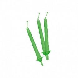 12 Candeline Verde Fluo 7 cm