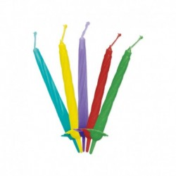 12 Candeline Multicolor 7 cm