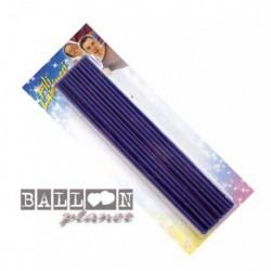 20 Candeline Fili Blu 16 cm