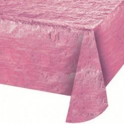 Tovaglia Plastica Iridescent Rosa 137x274 cm