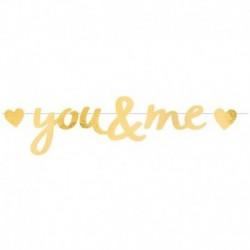 Festone You & Me Oro 90x20 cm