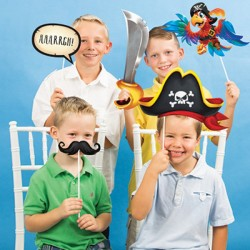 10 Photo Booth Pirati Party